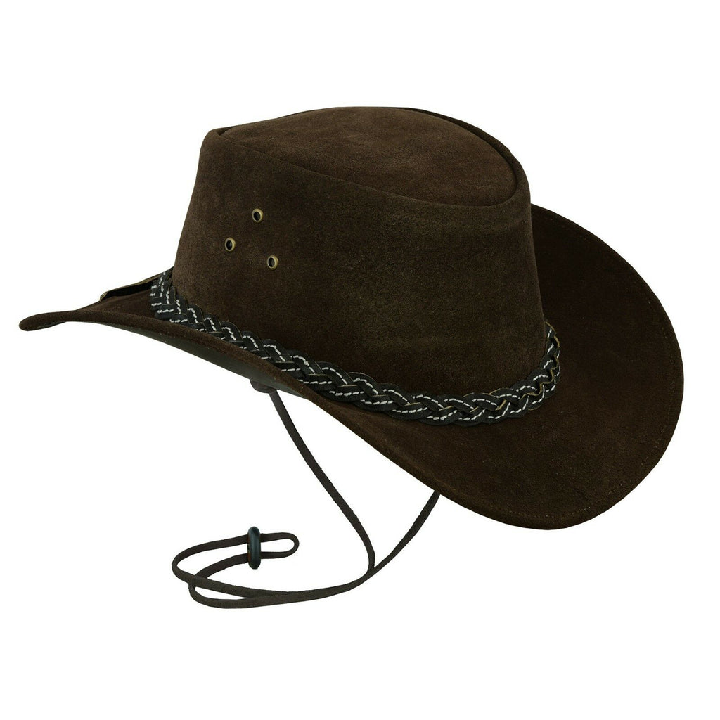 e103b2c0 Hats Plus Caps Australian American Cowboy Hat in Real Suede Leather with  Black Belt - Hats