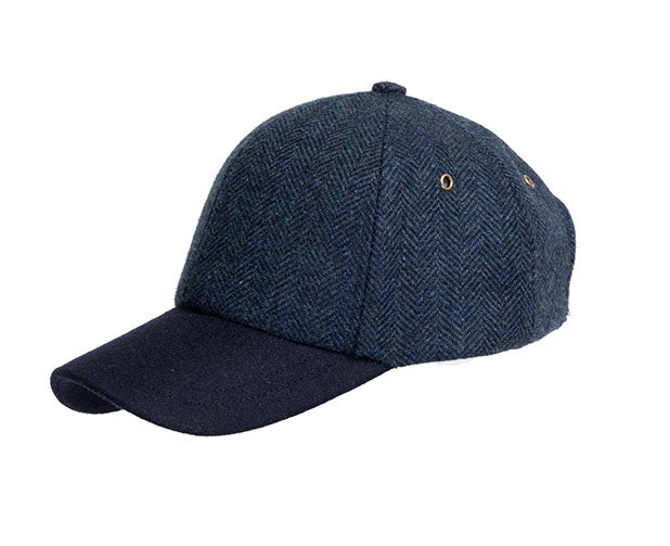 22cee72b95b Denton s Hats Herringbone Tweed Baseball Cap – Hats Plus Caps