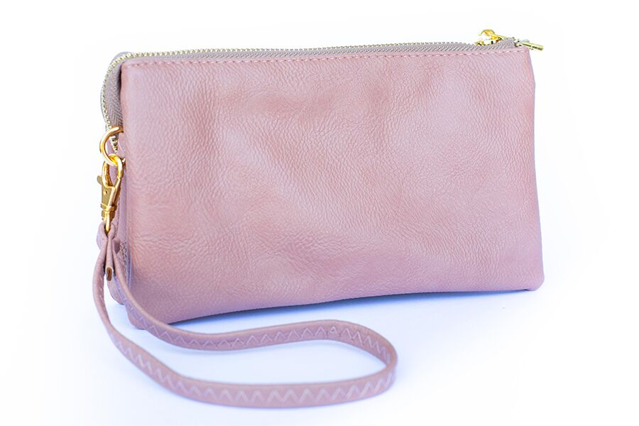 Dark Blush Monogrammed Clutch