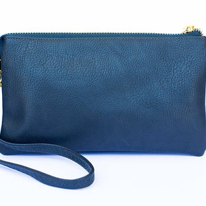 Navy Blue Monogrammed Clutch