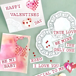 February 2 - Watercolor Valentine Cards
