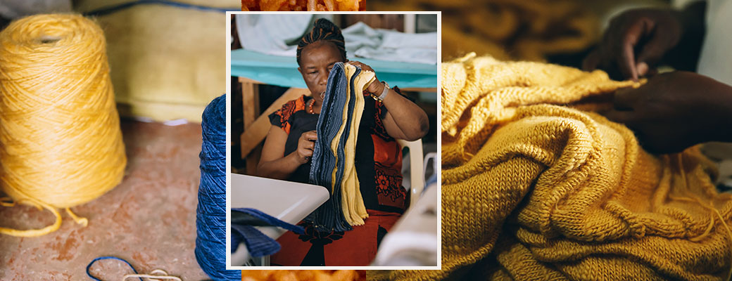 Artisan creating the Post-Imperial Jollof collection