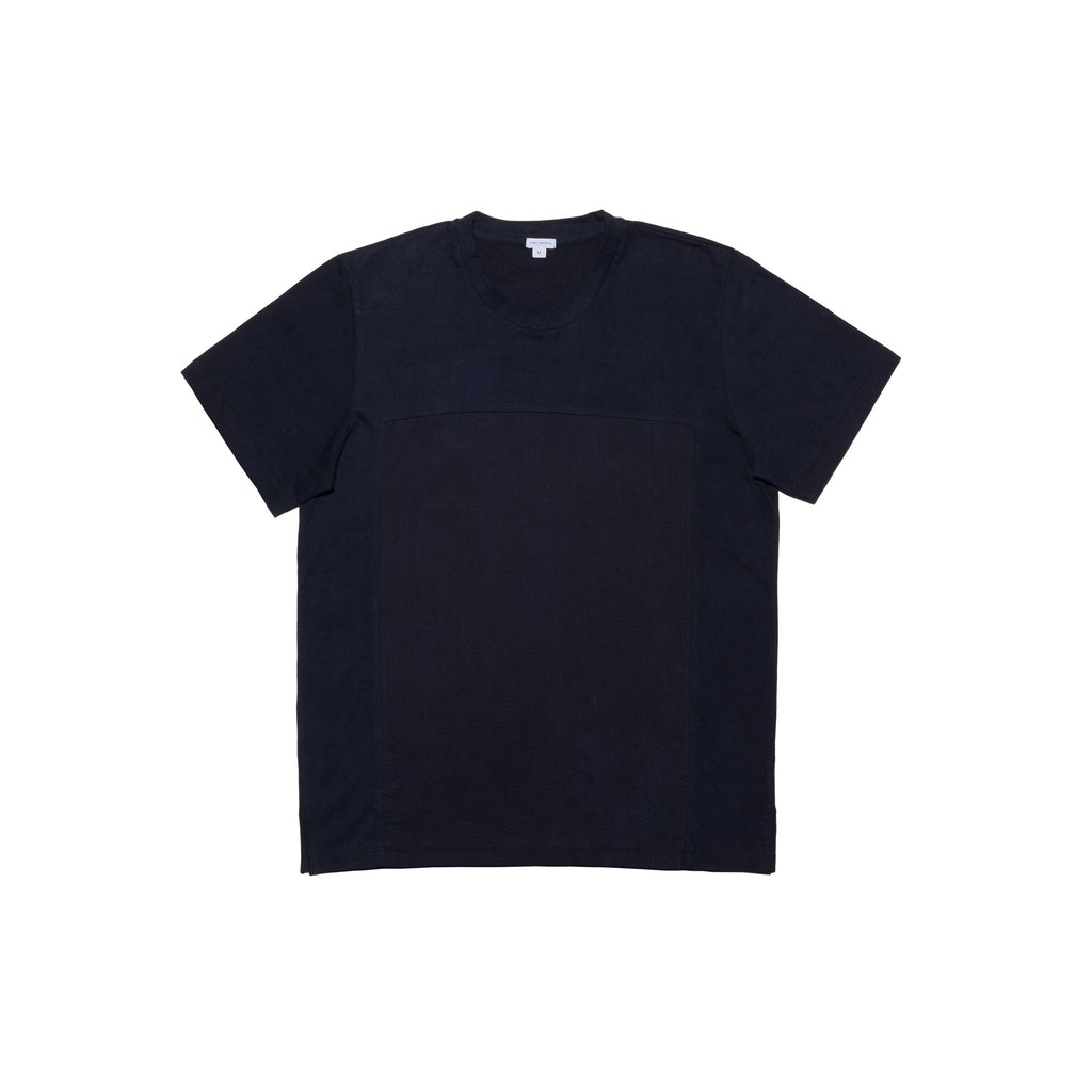 Post-Imperial Adire solid dyed black crewneck tee. Dyed in Nigeria, Made in USA