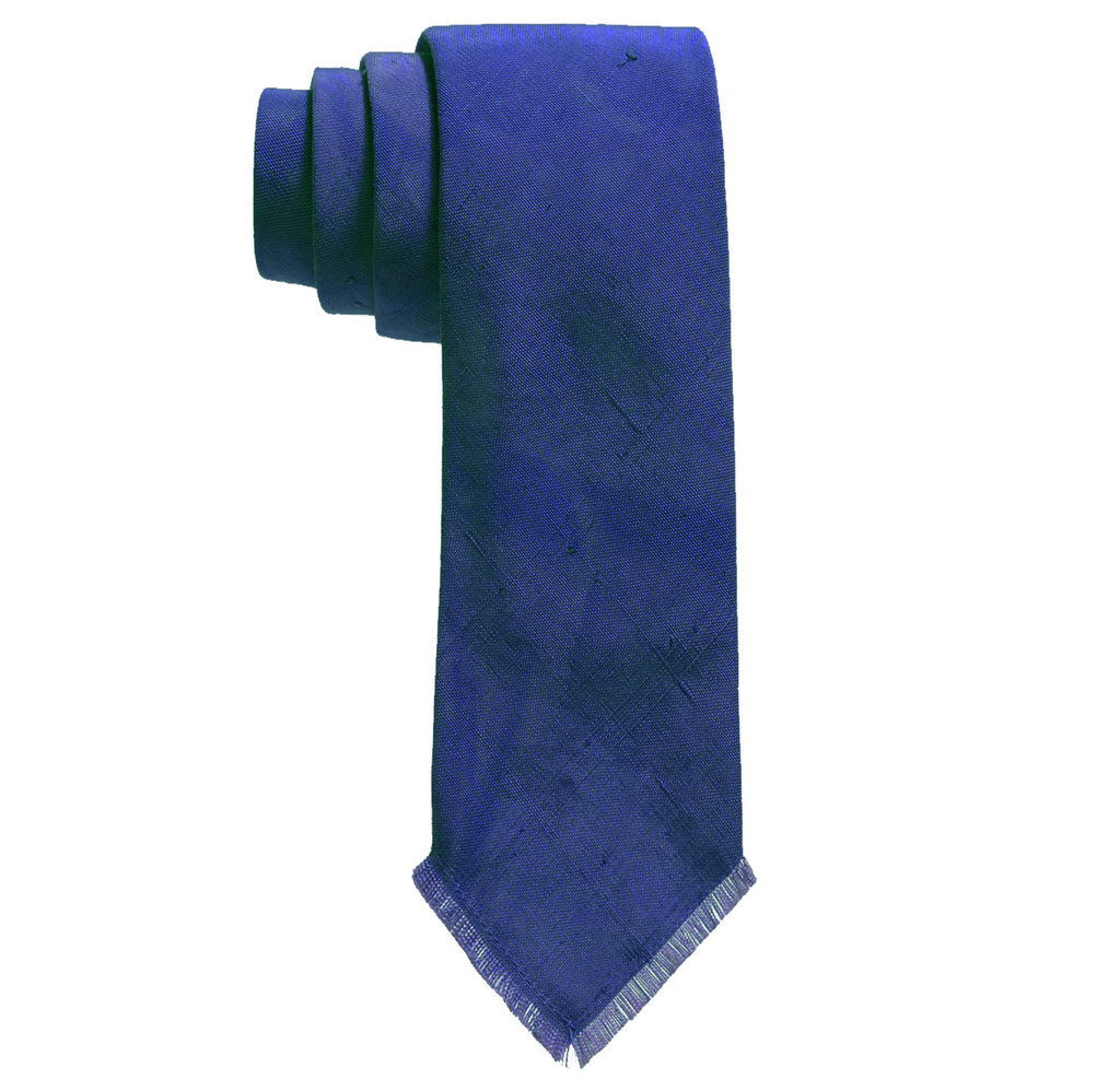 Post-Imperial Adire indigo Solid Tie. Dyed in Nigeria, made in USA