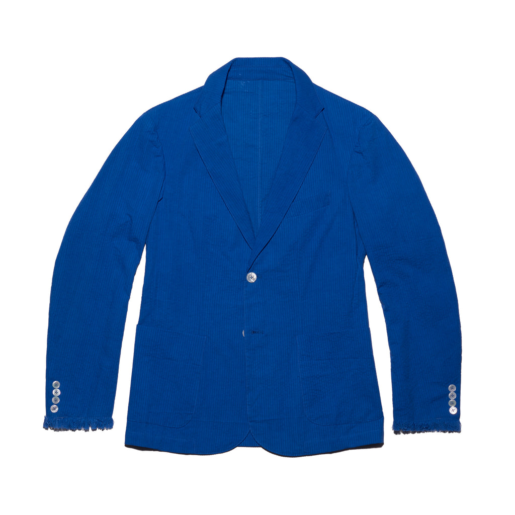 Post-Imperial Adire Solid Dyed Azure Standard Sport Jacket