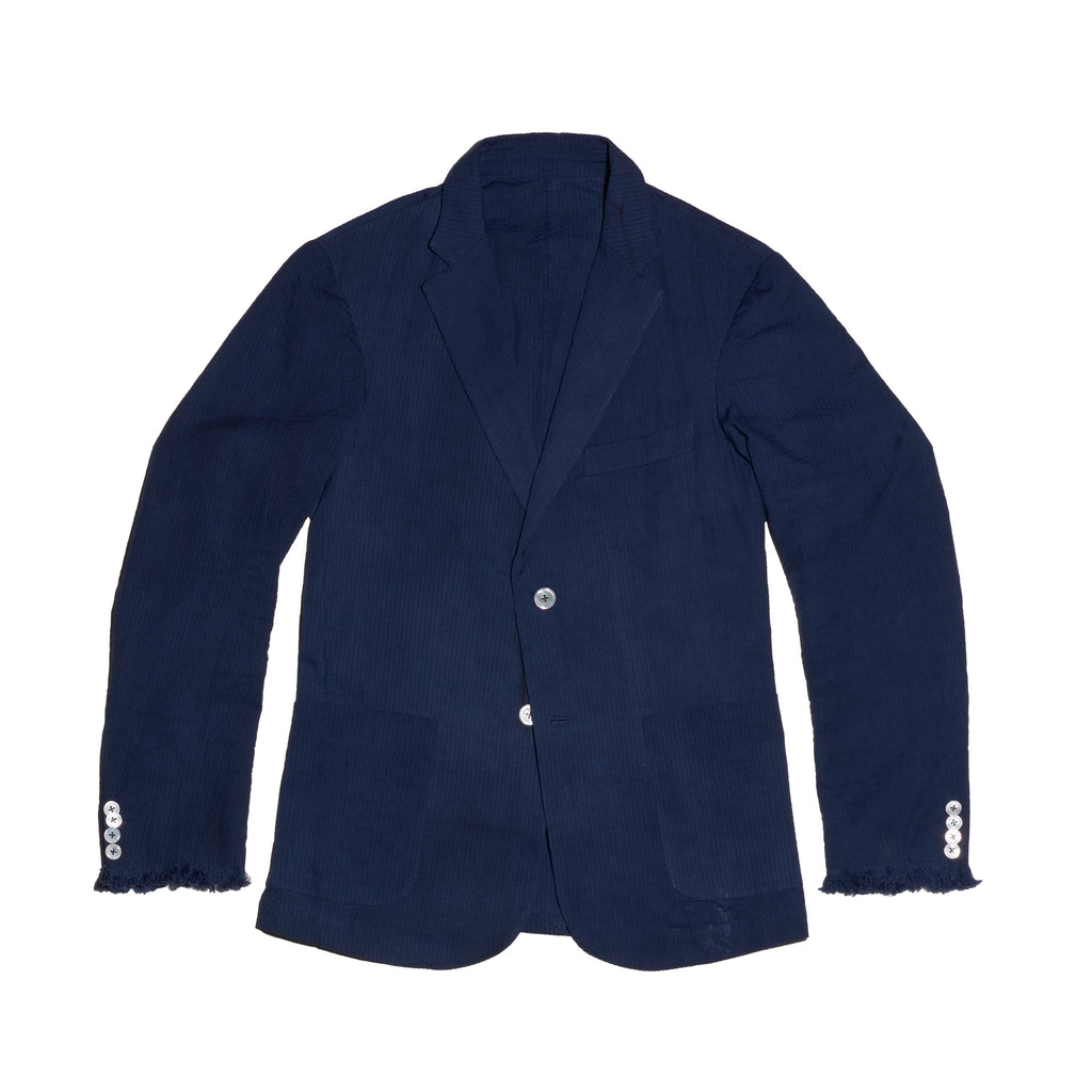 Post-Imperial Adire Solid Dyed Indigo Standard Sport Jacket