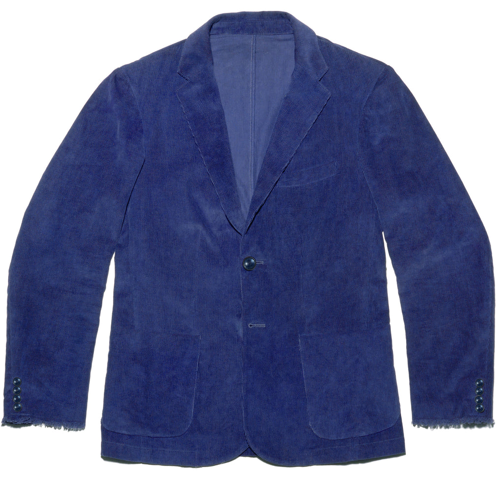 Post-Imperial Standard Corduroy Sport Jacket with Adire Indigo Dyed. Dyed in Nigeria, Made in USA