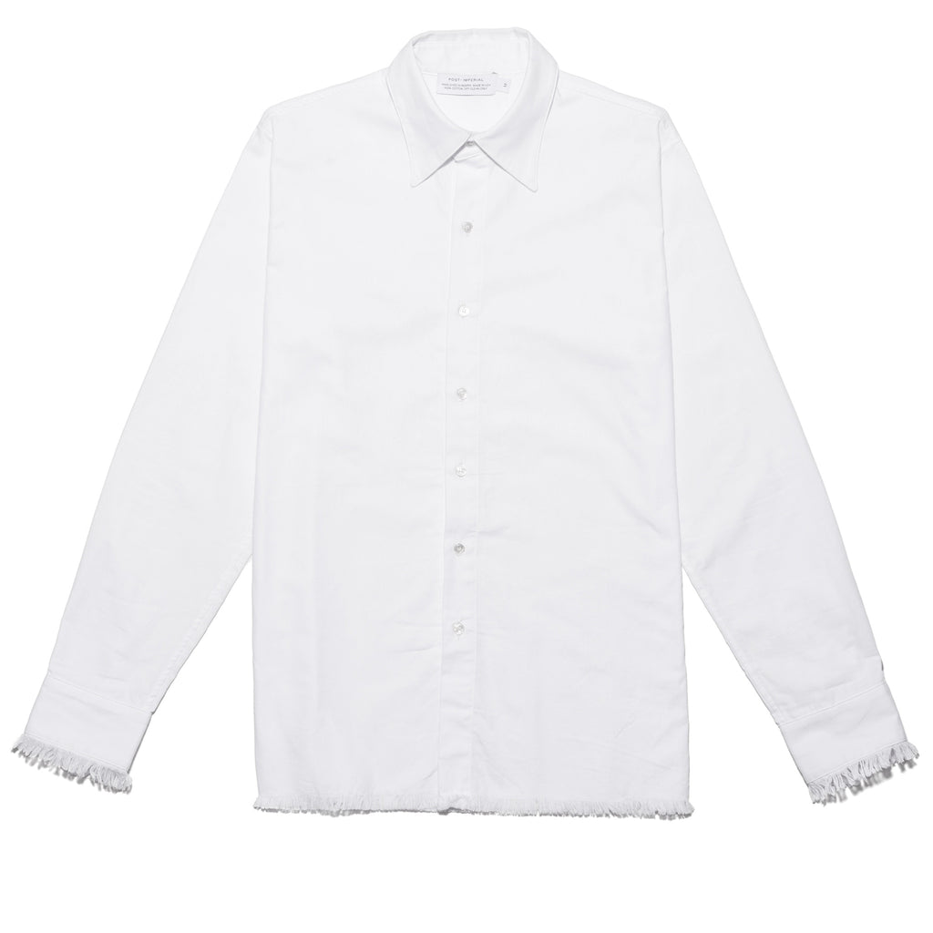 Post-Imperial Solid White Standard Shirt. Made in USA