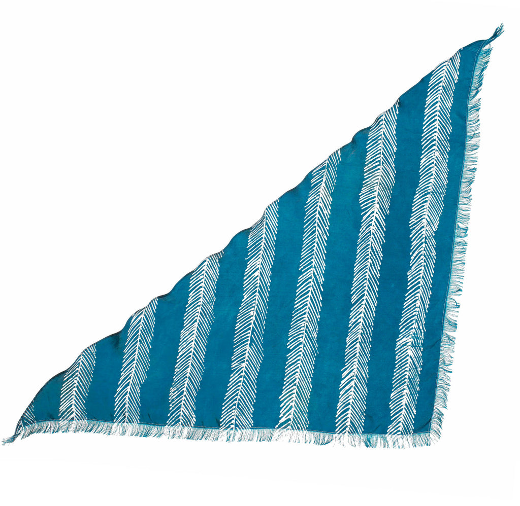 FISHBONE STRIPED TRI-SCARF - Post-Imperial