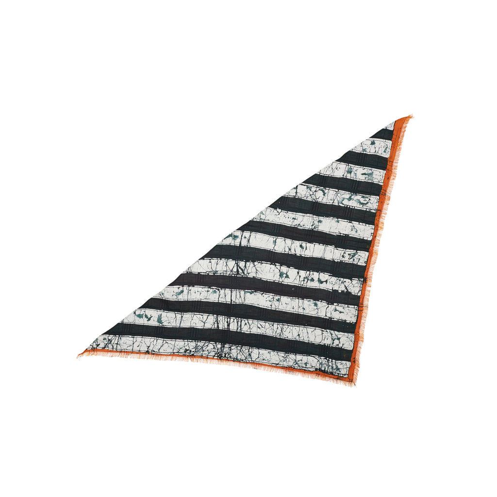 WIDE STRIPE TRI-SCARF