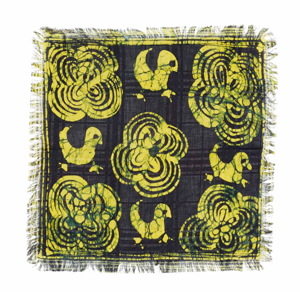 FOWL MOTIF POCKET SQUARE - Post-Imperial
