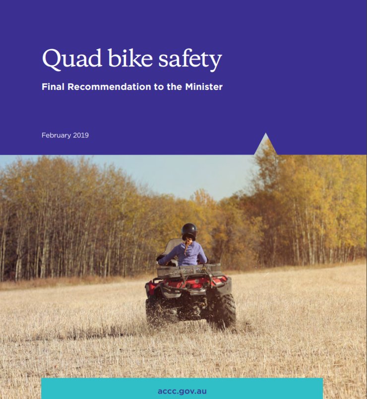 Quad bike safety Final Recommendation to the Minister