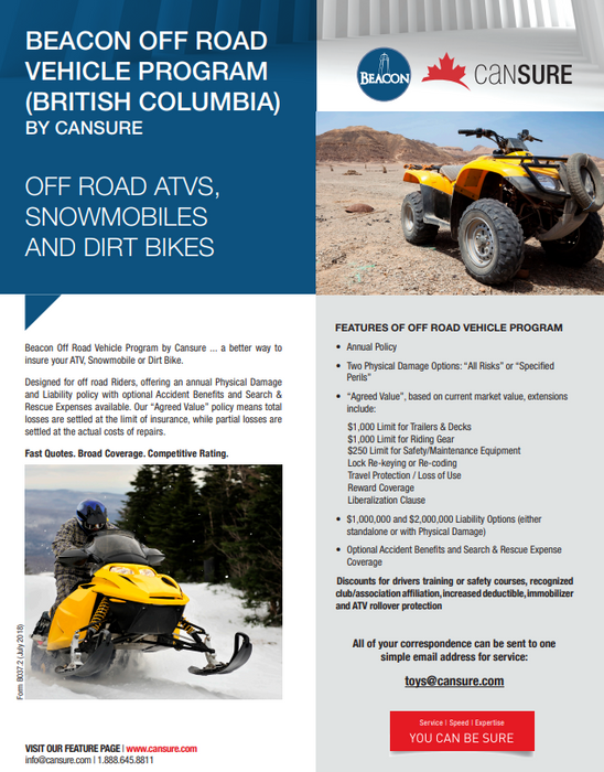 Get a 5% discount on your ATV insurance!