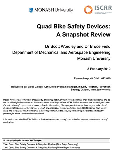 Quad Bike Safety Devices