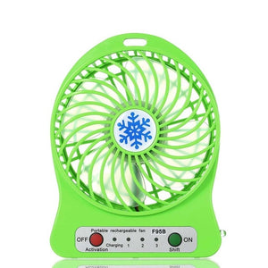 3-Speed LED Lighting Portable Fan