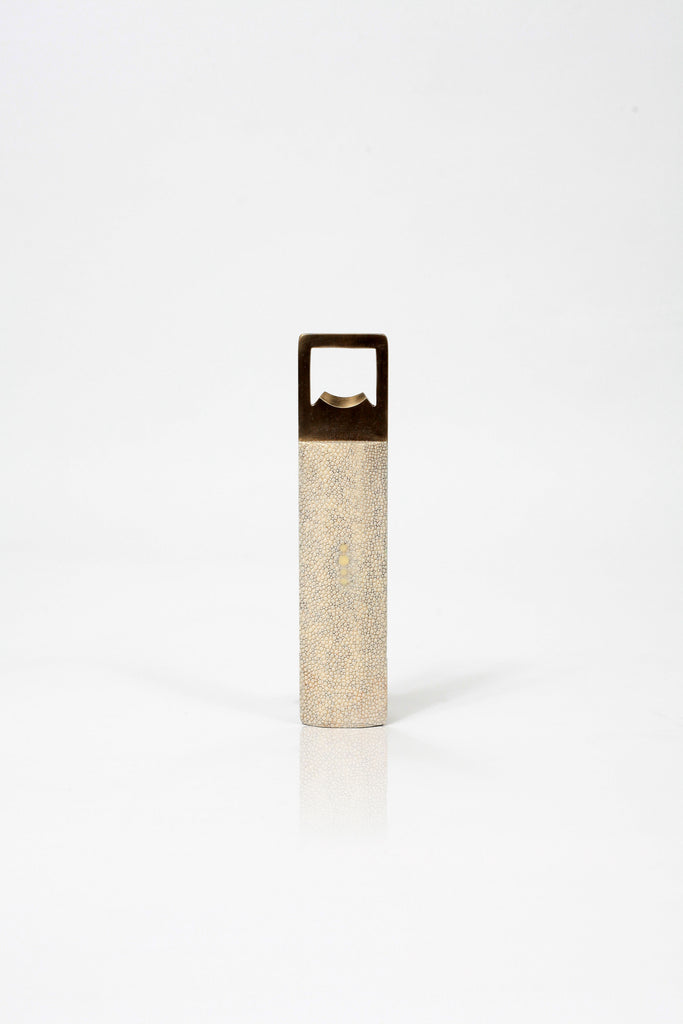 Bullion Bottle Opener - Antique Natural Shagreen