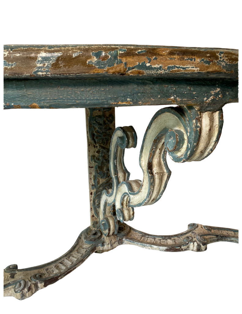 Painted Italian Carved Console