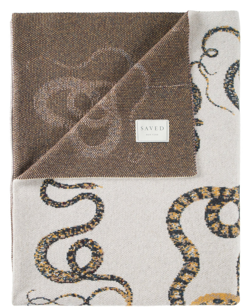 Cashmere Serpents Throw