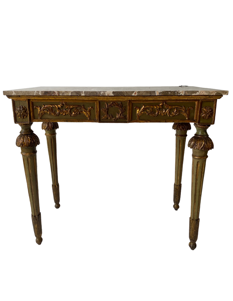 Marble Top Console Italian 1780 Louis XV