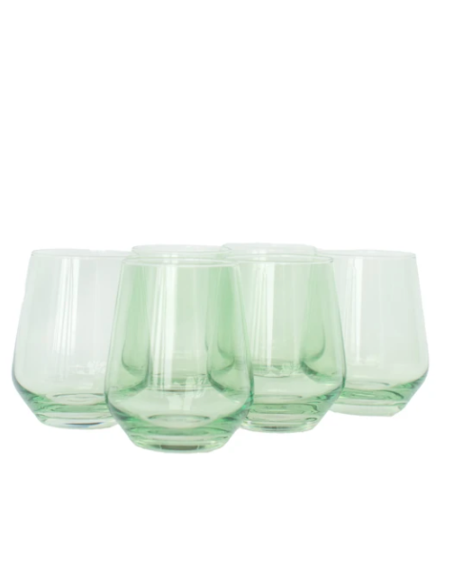 Wine Stemless - Mint Green - Set of 6
