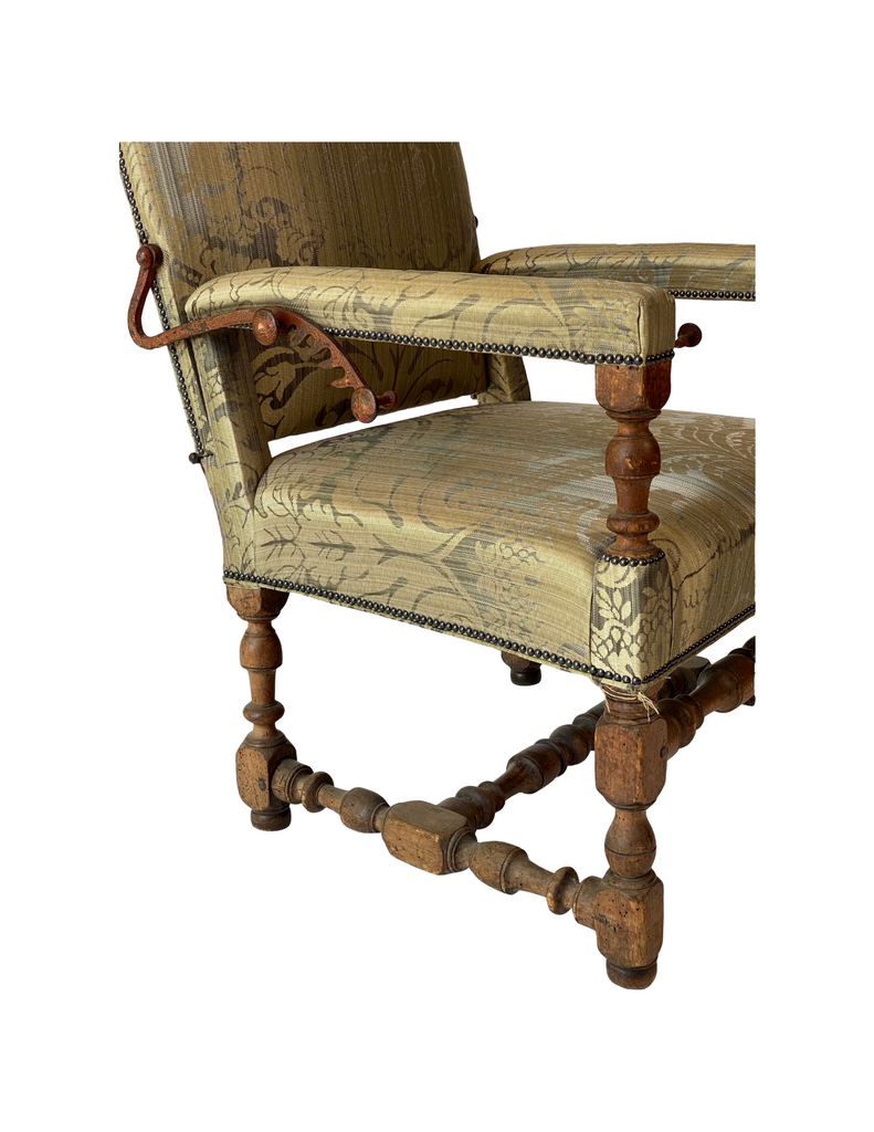 Walnut French Ratchet Chair C. 1740