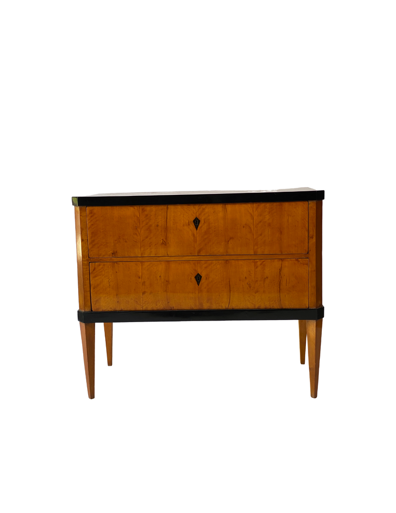 German Mahogany & Ebony Chest, II C. 1900