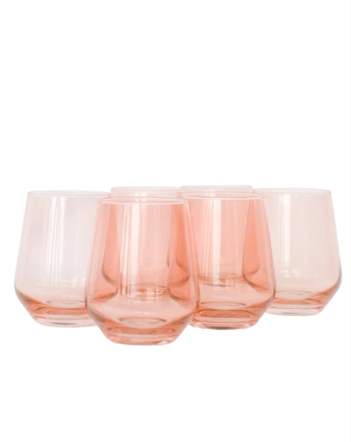 Wine Stemless - Blushed Pink - set of 6