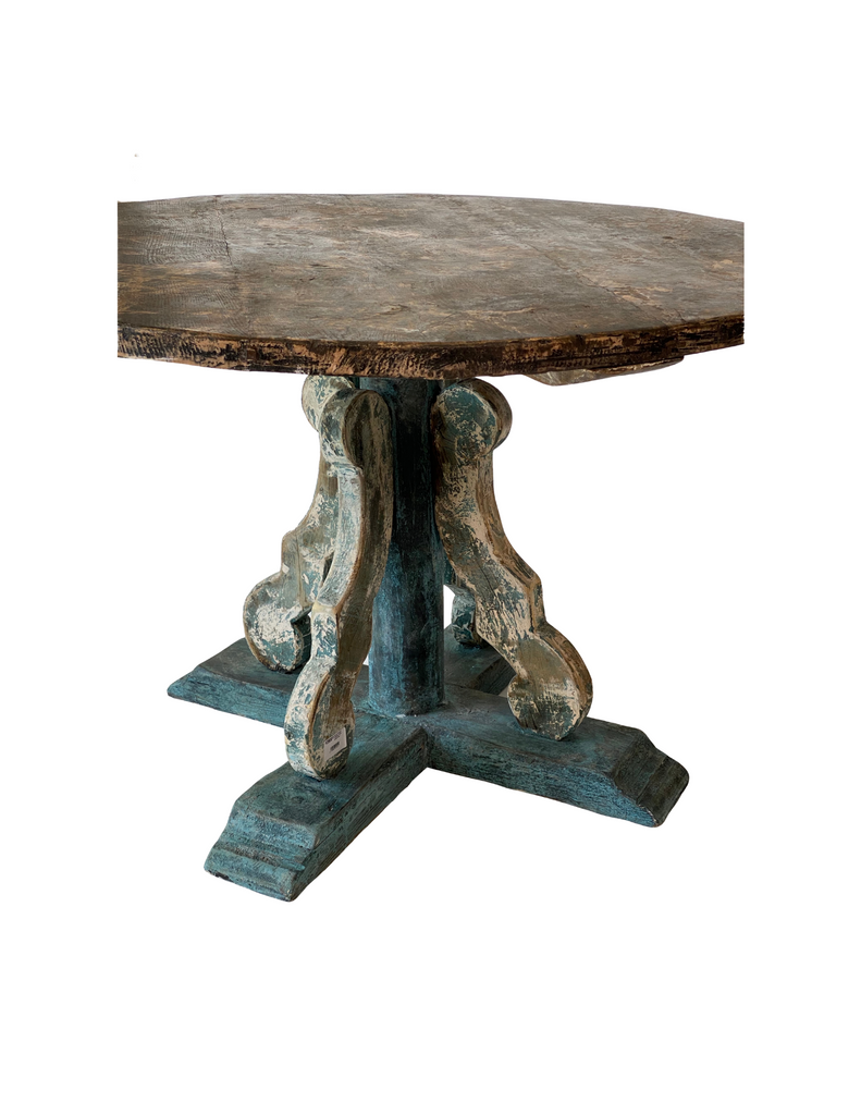 Round Painted Pedestal Table - priced each