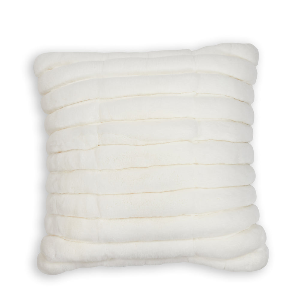 Rex Light Snow Chanelled Pillow