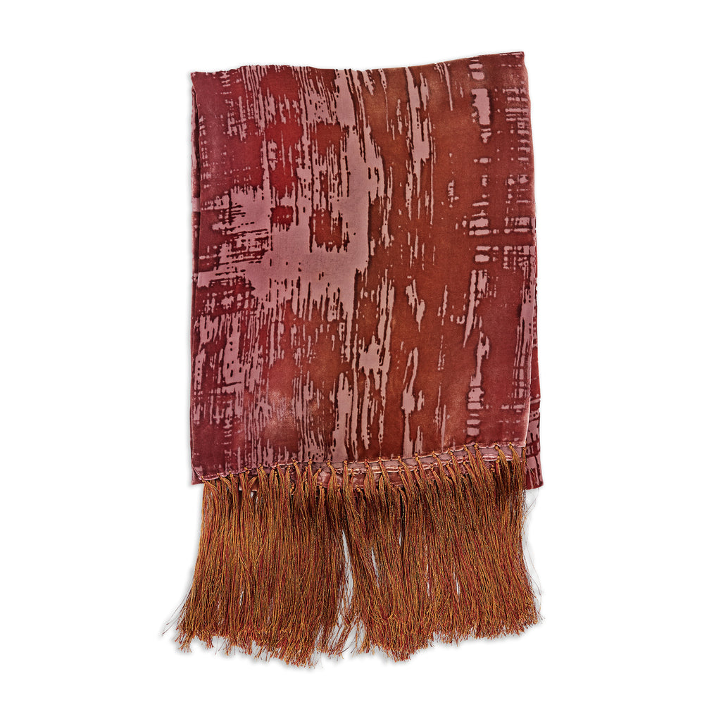 Desert Rose Stroke Velvet Throw