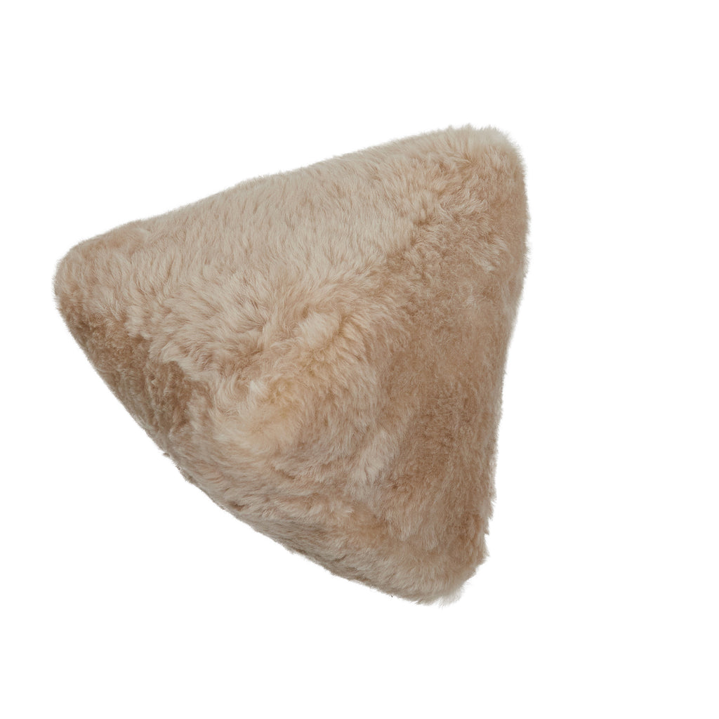 Pyramid Shearling Pillow