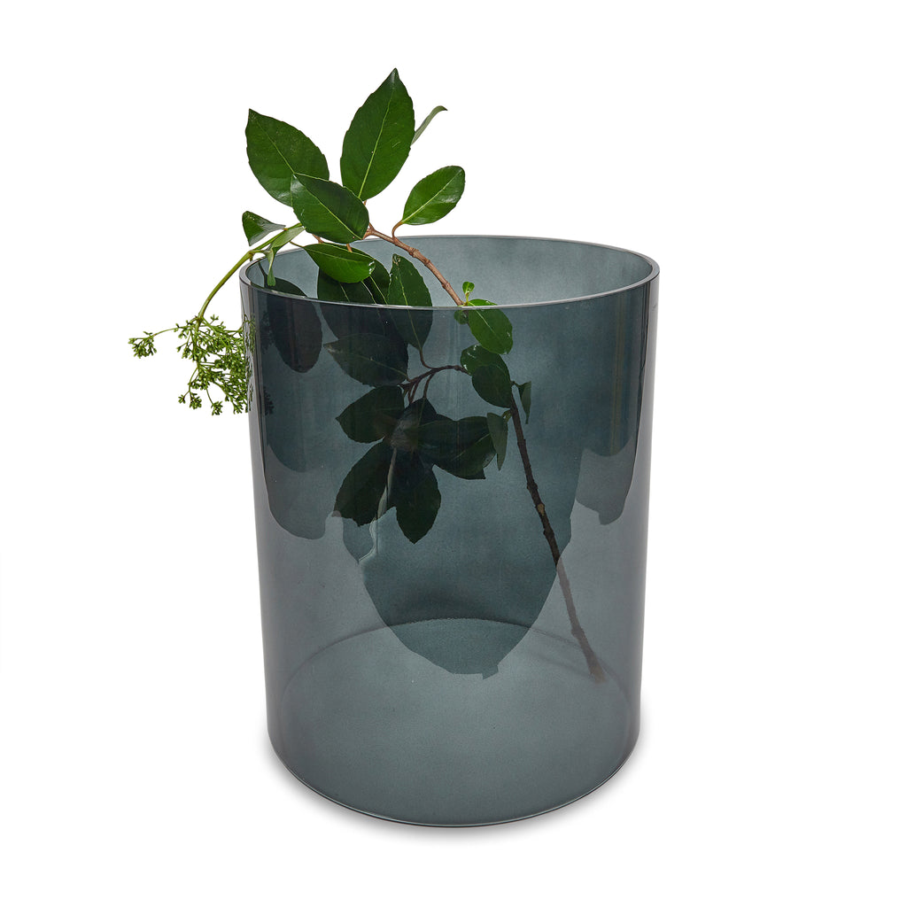 Hurricane Vase in Grey