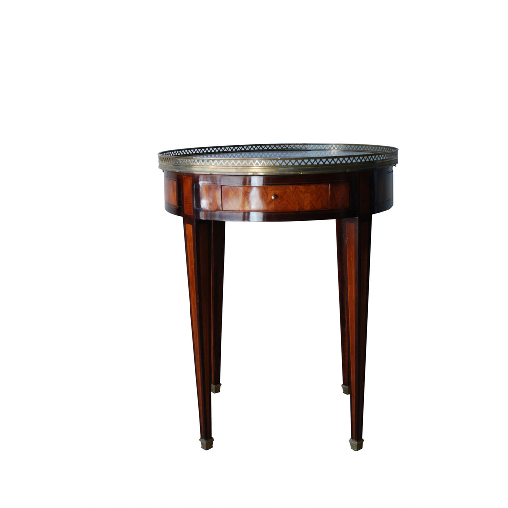 Italian Bouliotte Painted Table with Marble Top