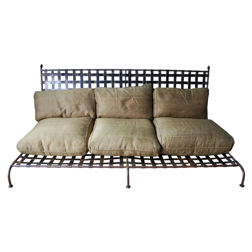 Iron Sofa with Cushions circa 1960