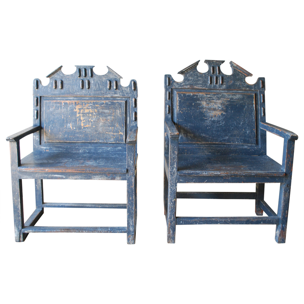 French Painted Armchairs