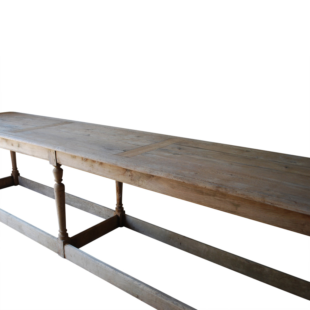 Oak Bleached Monks Dining Table