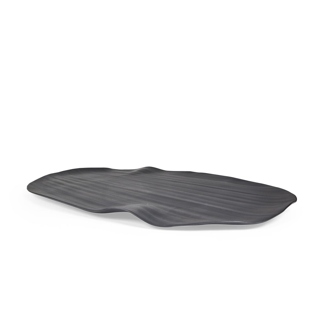 Leaves Platter Black