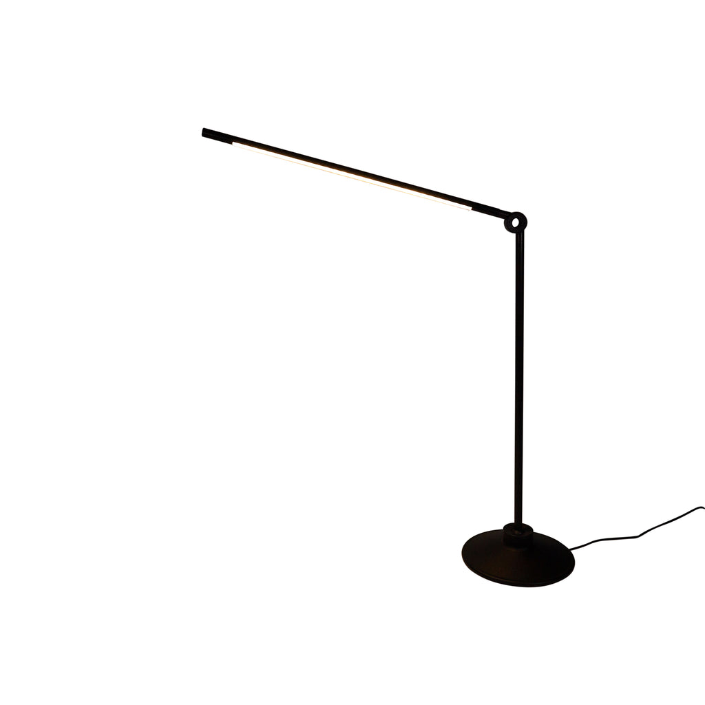 Thin S Task Lamp Black and Brass