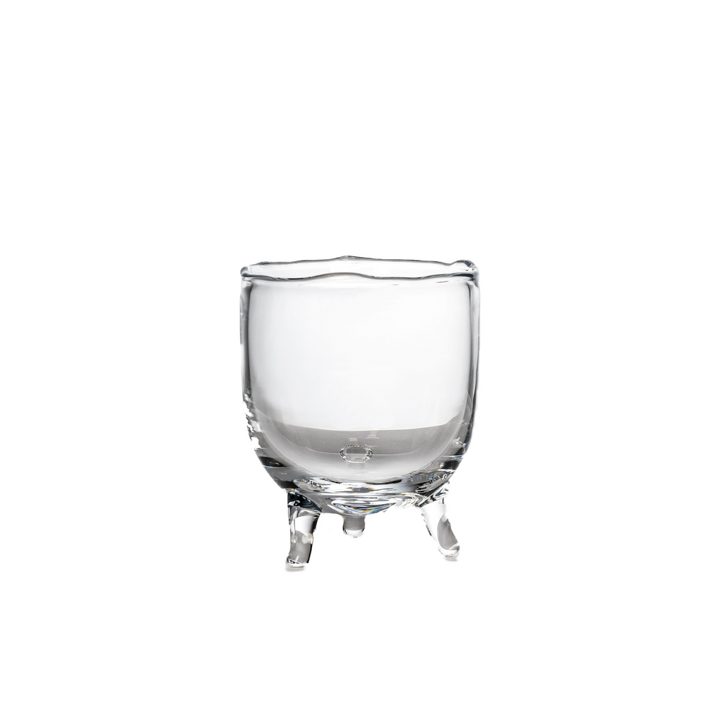 GOMMAIRE FIGARO SMALL GLASS VASE, CLEAR