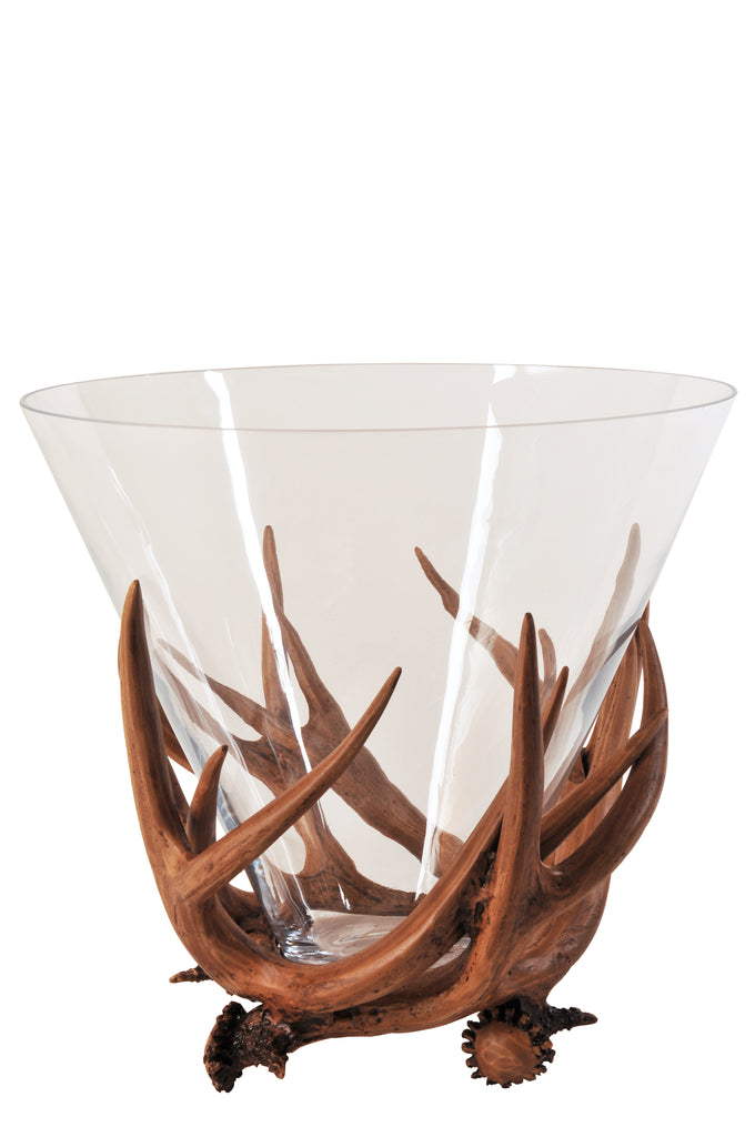 Antler Short Glass Vase