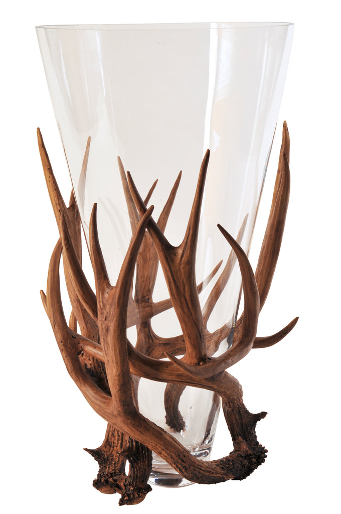 Antler Tall Glass Vase