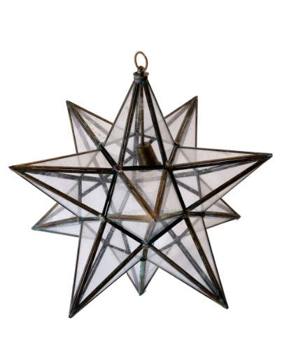 BRASS STAR CHANDELIERS