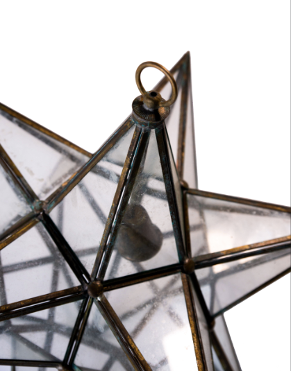 Brass Star Chandelier