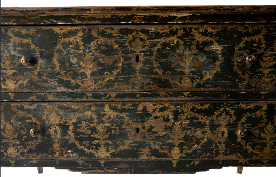 ITALIAN PAINTED CHESTS, BLACK c. 1880