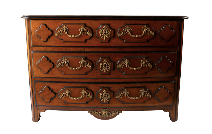 ITALIAN WALNUT AND EBONY CHEST c. 1820