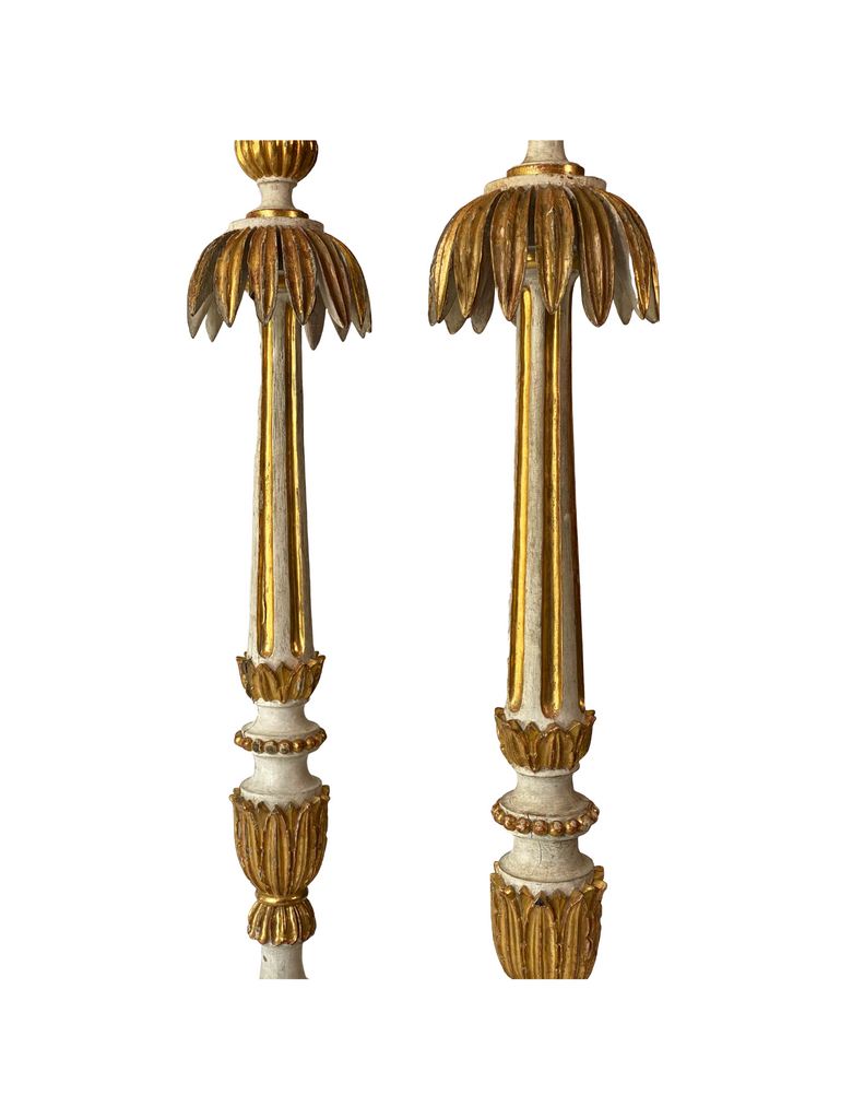 Pair Of Italian Large Candlestick c.1820