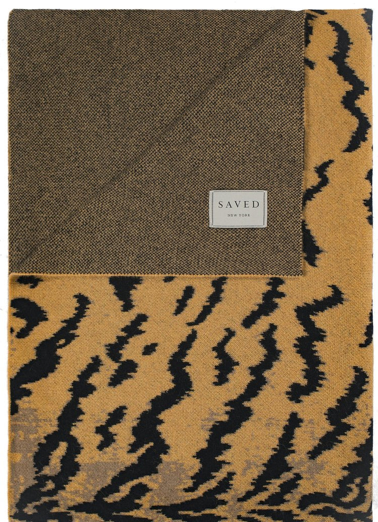 Cashmere Calabria Mustard Throw