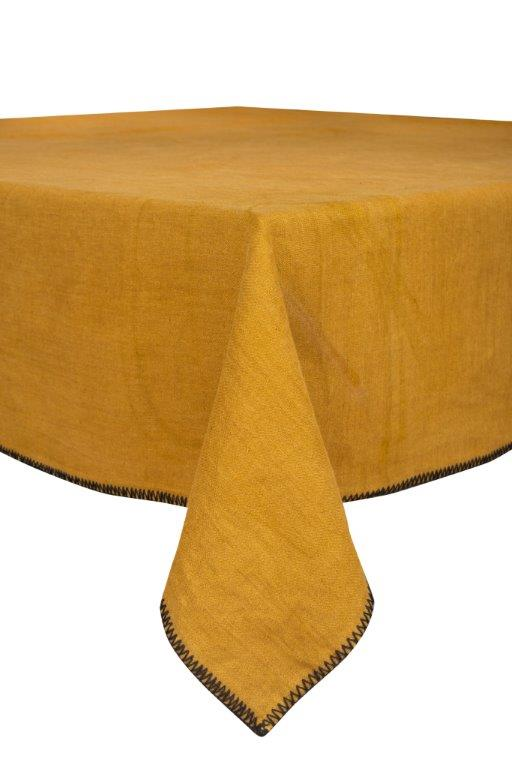 Letia Tablecloth - Bronze Linen - 67x118