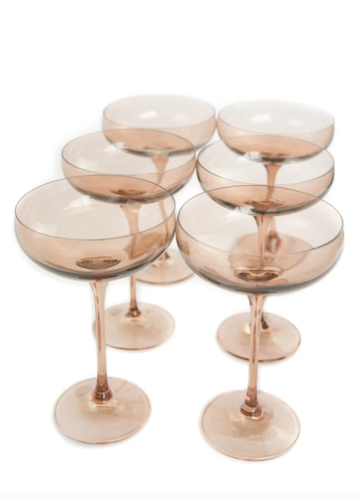 Champagne Coupe - Amber Smoke - Set of 6