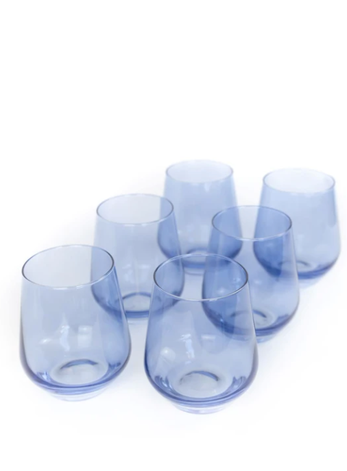 Wine Stemless - Cobalt Blue - set of 6